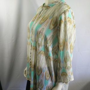Rose and Olive Women's Sheer Blouse Size 1X